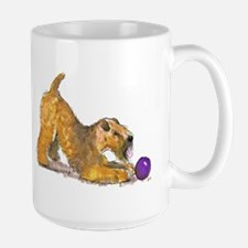 Soft Coated Wheaten Terrier with Ball Mugs