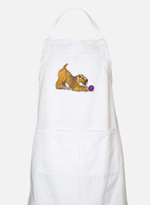 Soft Coated Wheaten Terrier with Ball Apron
