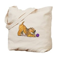 Soft Coated Wheaten Terrier with Ball Tote Bag