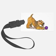 Soft Coated Wheaten Terrier with Ball Luggage Tag