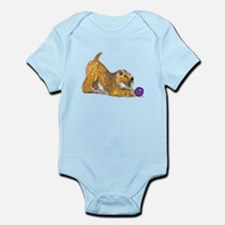 Soft Coated Wheaten Terrier with Ball Body Suit