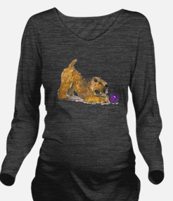 Soft Coated Wheaten Terrier with Ball Long Sleeve