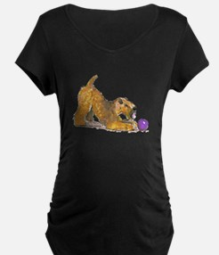 Soft Coated Wheaten Terrier with Ball Maternity T-