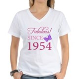 60th birthday for women Womens V-Neck T-shirts