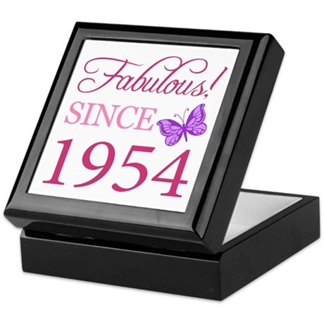 Fabulous Since 1954 Keepsake Box
