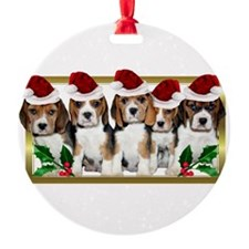 Christmas Beagles Ornament