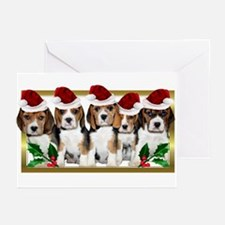 Christmas Beagles Greeting Cards