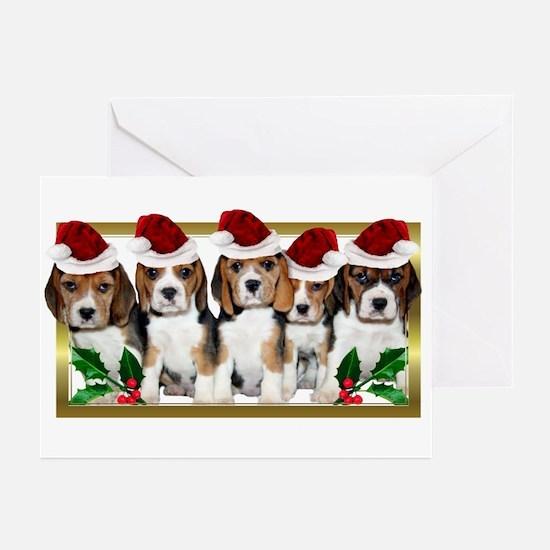 Christmas Beagles Greeting Cards