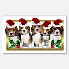 Christmas Beagles Decal