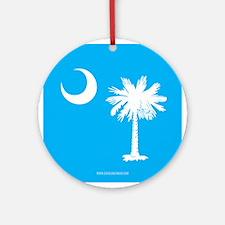 SC Palmetto Moon State Flag Blue Ornament (Round)