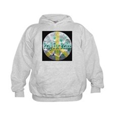 Pray For Peace Angelic Flower Hoodie