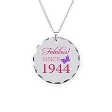 Fabulous Since 1944 Necklace Circle Charm
