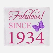 Fabulous Since 1934 Throw Blanket