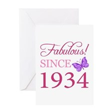 Fabulous Since 1934 Greeting Card
