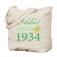Fabulous Since 1934 Tote Bag