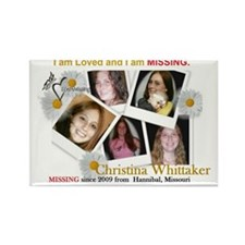 Missing Christina Whittaker Rectangle Magnet