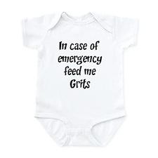 Feed me Grits Infant Bodysuit