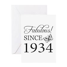 Fabulous Since 1934 Greeting Card