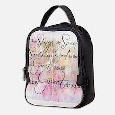 How great thou art Neoprene Lunch Bag