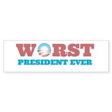 Worst President Ever Bumper Car Sticker