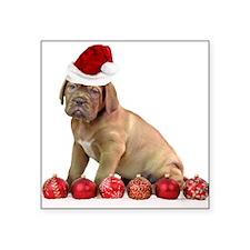 Christmas Dogue de Bordeaux puppy Sticker