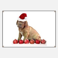 Christmas Dogue de Bordeaux puppy Banner