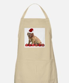 Christmas Dogue de Bordeaux puppy Apron