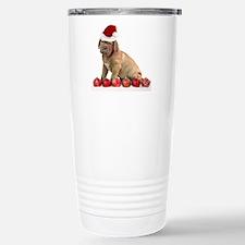 Christmas Dogue de Bordeaux puppy Travel Mug