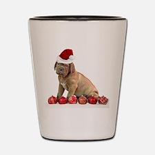 Christmas Dogue de Bordeaux puppy Shot Glass