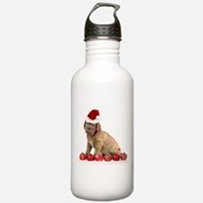 Christmas Dogue de Bordeaux puppy Water Bottle