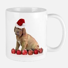 Christmas Dogue de Bordeaux puppy Mugs