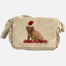 Christmas Dogue de Bordeaux puppy Messenger Bag
