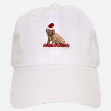 Christmas Dogue de Bordeaux puppy Baseball Baseball Baseball Cap