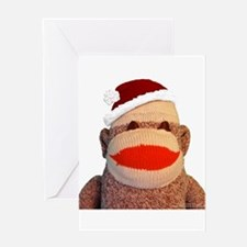 Santa Monkey - Greeting Cards