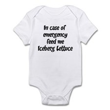 Feed me Iceberg Lettuce Infant Bodysuit