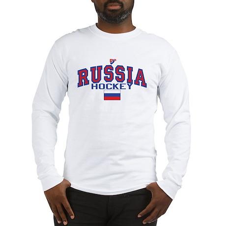 RU Russia/Rossiya Hockey Long Sleeve T-Shirt