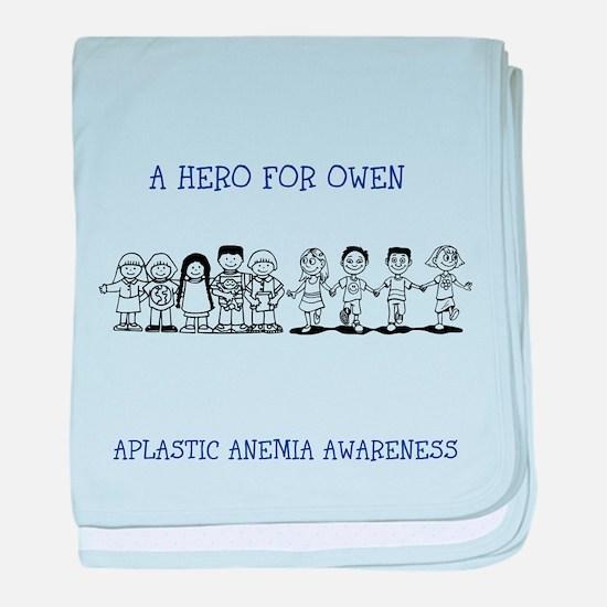APLASTIC ANEMIA AWARENESS baby blanket