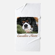 Cavalier Mom Beach Towel