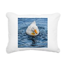 Duck with Daisy Rectangular Canvas Pillow