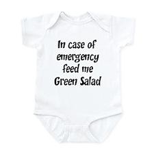 Feed me Green Salad Infant Bodysuit