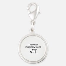 I Have An Imaginary Friend Silver Round Charm
