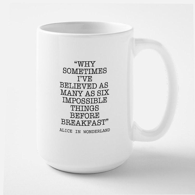 ALICE QUOTE Mugs
