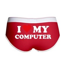 I Love My Computer Women's Boy Brief