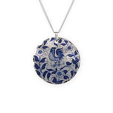 Vintage Blue Rooster Necklace