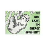 Not Lazy Sloth Rectangle Magnet