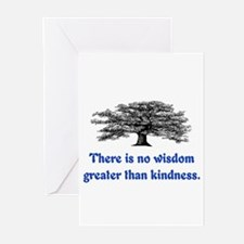 WISDOM GREATER THAN KINDNESS Greeting Cards