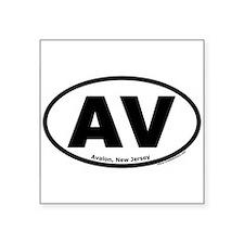 "Avalon, New Jersey ""AV"" Oval Sticker"