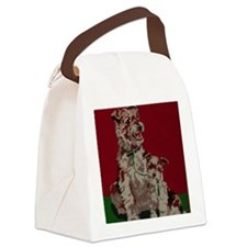 Vintage Needle Work Jack Russell  Canvas Lunch Bag