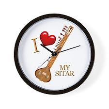 I Love My SITAR Wall Clock