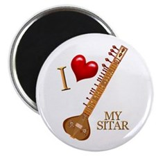 I Love My SITAR Magnet